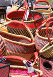 Handmade baskets Stock Photo