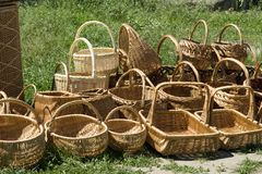Handmade baskets Stock Photography