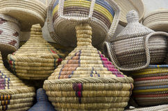 Handmade baskets Fes Morocco Royalty Free Stock Photo