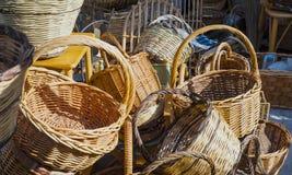 Handmade baskets. Royalty Free Stock Photos