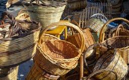 Handmade baskets. Stock Photo