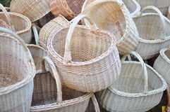 Handmade baskets Royalty Free Stock Images
