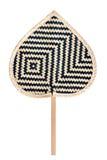 Handmade basketwork fan Royalty Free Stock Photo