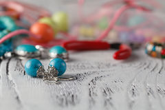 Handmade Bead making accessories stock photos