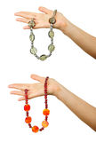 Handmade beaded jewels Stock Photo