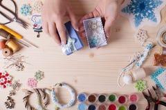 Handmade beading przygotowanie Zdjęcia Royalty Free