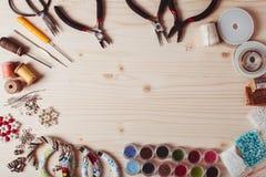Handmade beading przygotowanie Obrazy Royalty Free