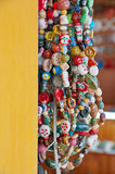 Handmade Beads. Ropes of handmade ceramic beads in Vietnam Stock Image