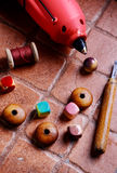 Handmade with beads Royalty Free Stock Images