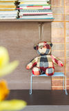 Handmade  bear and doll background. Royalty Free Stock Photos