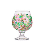 Handmade beautiful wine glass. Royalty Free Stock Photos