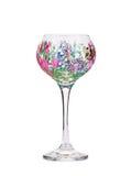 Handmade beautiful wine glass. Stock Images