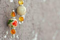 Handmade biżuterii kolia ceramiczna glina Zdjęcia Royalty Free