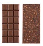 Handmade, bio chocolate isolated on white Stock Photography