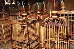 Handmade bird cage Stock Photos