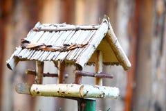Handmade bird feeder outdoor nature Royalty Free Stock Image