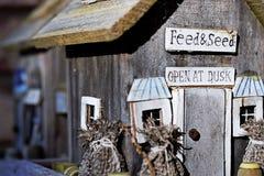 Handmade Bird Feeders stock photo