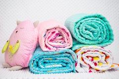 Handmade blanket on white background Stock Photos