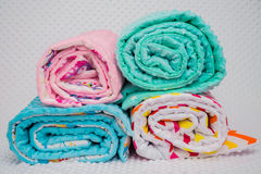 Handmade blanket on white background Royalty Free Stock Image