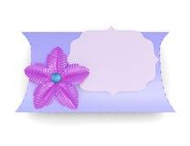 Handmade blue box  on white background. 3d rendering.  Stock Photo