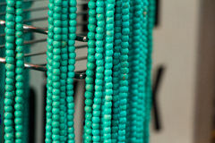 Handmade blue green jewelery. Stock Photography