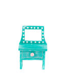 Handmade blue toy bureau. Royalty Free Stock Image
