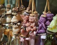 Handmade boże narodzenie świeczka Obrazy Royalty Free