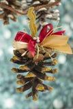 Handmade boże narodzenie rożek Zdjęcia Royalty Free