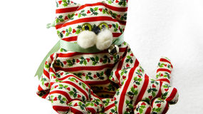 Handmade Bożenarodzeniowa kot dekoracja Zdjęcia Royalty Free