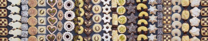 Handmade Bożenarodzeniowa ciastko panorama Zdjęcia Royalty Free