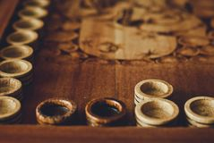 Board for a game of backgammon Royalty Free Stock Image
