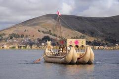 Handmade boat. Royalty Free Stock Photo