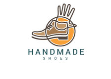 Handmade Boots Factory Logo Stock Images