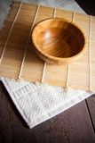 Handmade bowl on mat Stock Photography