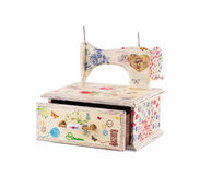 Handmade box decorated. Royalty Free Stock Images