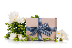 Handmade box with gift Royalty Free Stock Image
