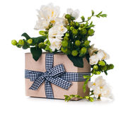 Handmade box with gift Royalty Free Stock Photography