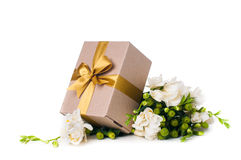 Handmade box with gift Stock Photography