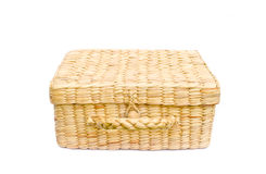 Handmade box made from dry water hyacinth Stock Photography