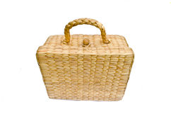 Handmade box made from dry water hyacinth Royalty Free Stock Photography