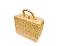 Handmade box made from dry water hyacinth Stock Photo