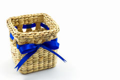 Handmade box made from dry water hyacinth decoration,Hand craft Royalty Free Stock Photo