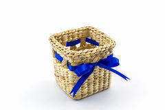Handmade box made from dry water hyacinth decoration,Hand craft Stock Photography