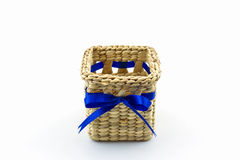 Handmade box made from dry water hyacinth decoration,Hand craft Royalty Free Stock Photos