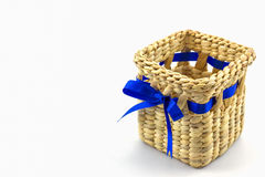 Handmade box made from dry water hyacinth decoration,Hand craft Stock Images