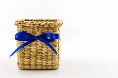 Handmade box made from dry water hyacinth decoration,Hand craft Royalty Free Stock Photography