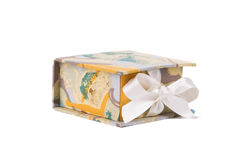 Handmade boxes with art materials for decor. Stock Image
