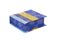Handmade boxes with art materials for decor. Royalty Free Stock Photography