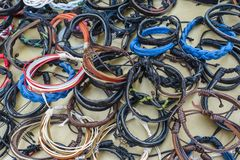 Handmade bracelets Stock Photos