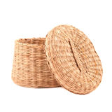 Handmade braided basket Stock Image